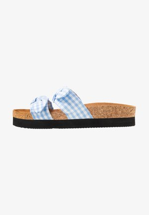 ANOK  - Sandaler - light blue check