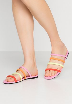 SIENNA UNIQUE - Mules - pink/orange/lime/red