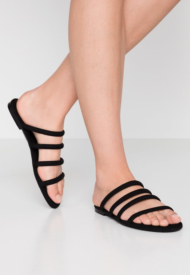 SIENNA UNIQUE - Pantolette flach - black