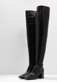 Monki - ARIANNE BOOT - Over-the-knee boots - black - 4