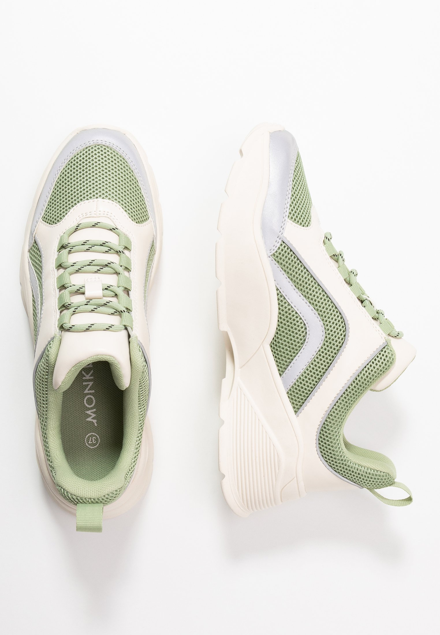 Monki Ritva - Sneakers Green/white