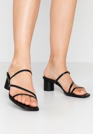 AGNES  - Heeled mules - black
