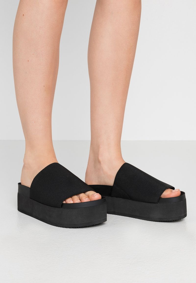 Monki - NORMA  - Heeled mules - black