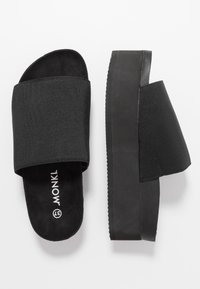 Monki - NORMA  - Heeled mules - black - 4