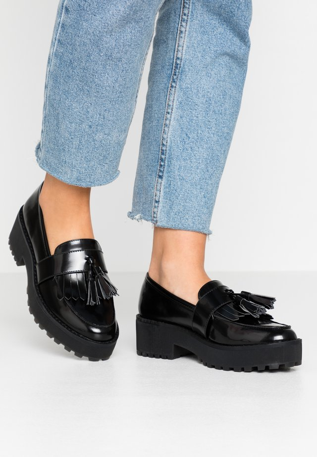 LUCY LOAFER - Nazouvací boty - black