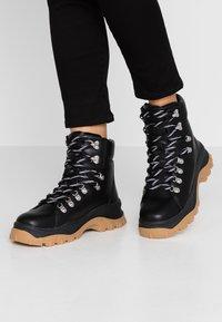 Monki - AINO - Platform ankle boots - black - 0