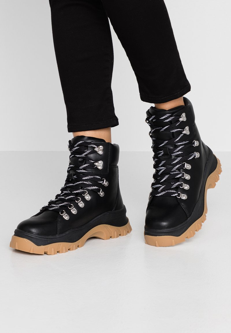 Monki - AINO - Platform ankle boots - black