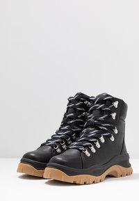 Monki - AINO - Platform ankle boots - black - 4