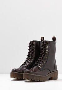 Monki - MANDY - Platform ankle boots - brown - 4