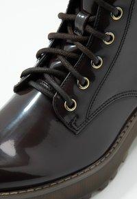 Monki - MANDY - Platform ankle boots - brown - 2