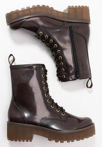 Monki - MANDY - Platform ankle boots - brown - 3