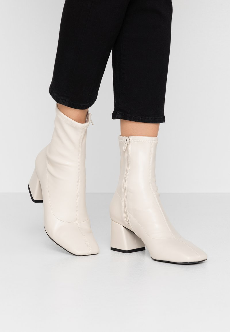 Monki - LEIA BOOT - Classic ankle boots - white dusty