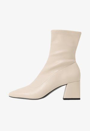 LEIA BOOT - Classic ankle boots - white dusty