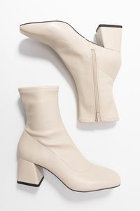 Monki - LEIA BOOT - Støvletter - white dusty
