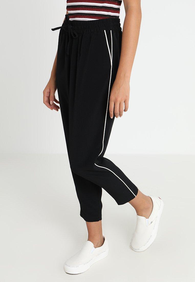 Monki - MOA TROUSERS - Trousers - black