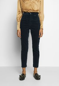 Monki - KIMMY TROUSERS - Kalhoty - blue dark - 0