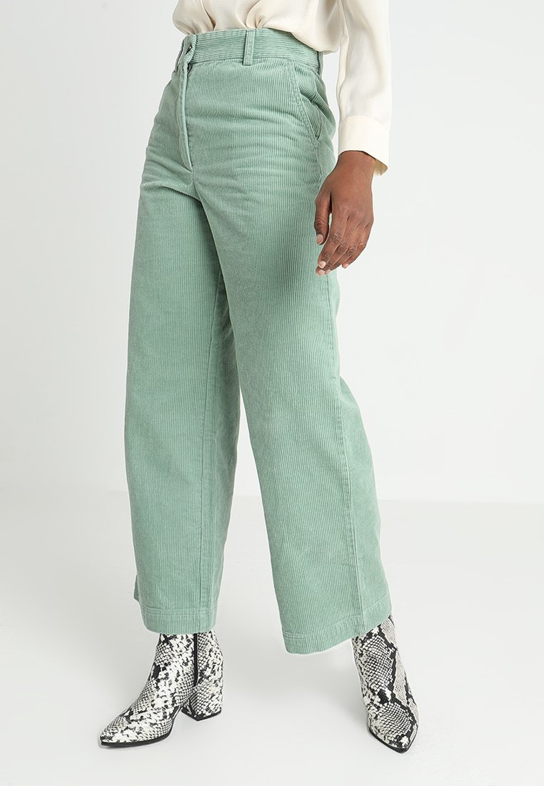 Monki - ANNIE TROUSERS - Trousers - green