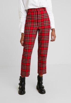 YOSSAN TROUSERS - Spodnie materiałowe - red