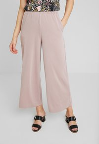 Monki - CILLA FANCY TROUSERS - Broek - nude - 0