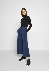 Monki - CILLA FANCY TROUSERS - Kalhoty - blue dark navy - 1