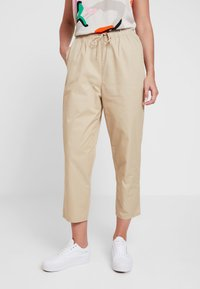 Monki - TINA TROUSER UNIQUE - Trousers - beige - 0