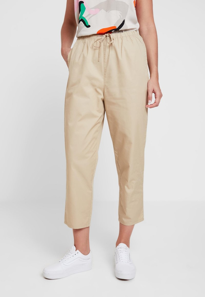 Monki - TINA TROUSER UNIQUE - Trousers - beige