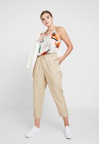 Monki - TINA TROUSER UNIQUE - Trousers - beige - 1