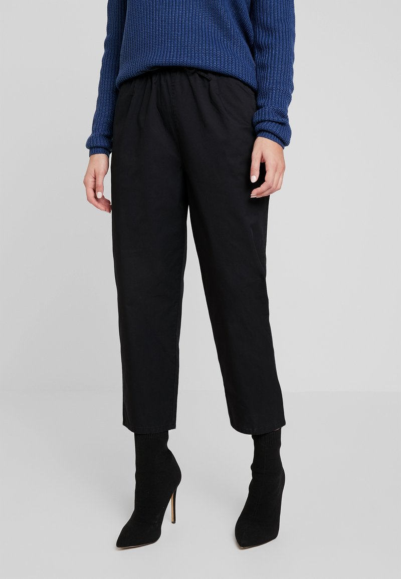 Monki - TINA TROUSER UNIQUE - Broek - black