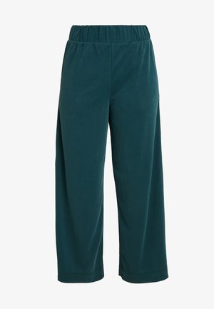 CILLA FANCY TROUSERS - Kangashousut - dark green