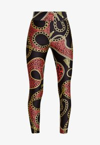 Monki - FRIDA SHINY - Leggings - black dark - 3