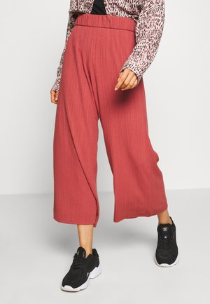 CILLA TROUSERS - Stoffhose - rust