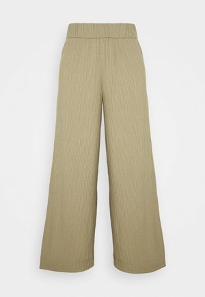 CILLA TROUSERS - Pantaloni - khaki green/medium dusty