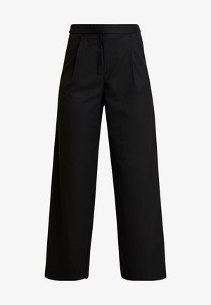HALINA TROUSERS - Trousers - black