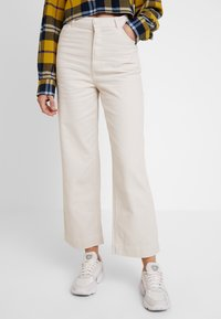 Monki - NILLA TROUSERS - Pantaloni - white/ beige - 0