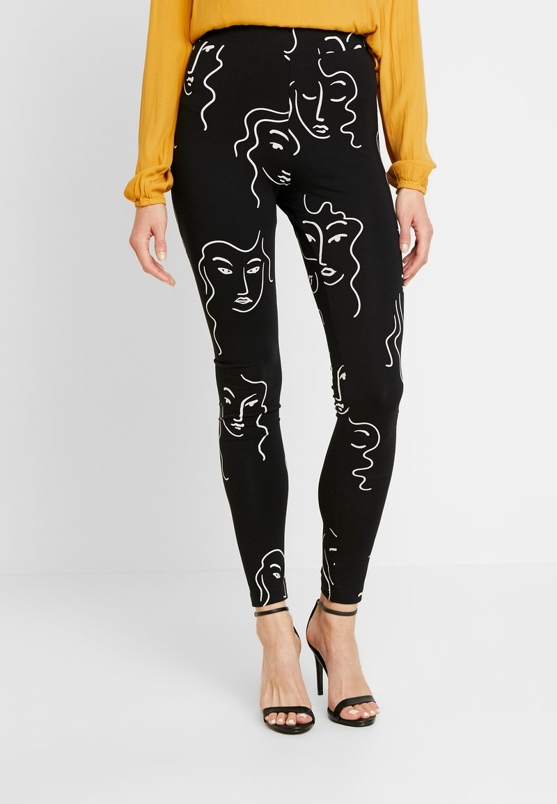 Monki - ED - Leggings - black dark unique
