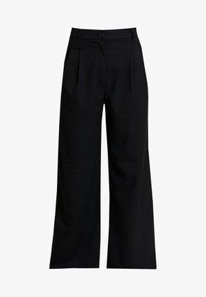 GINNY TROUSERS - Spodnie materiałowe - black