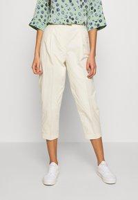 Monki - MONA TROUSERS - Trousers - white - 0