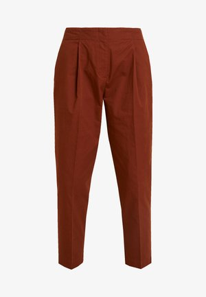 MONA TROUSERS - Trousers - brown medium dusty
