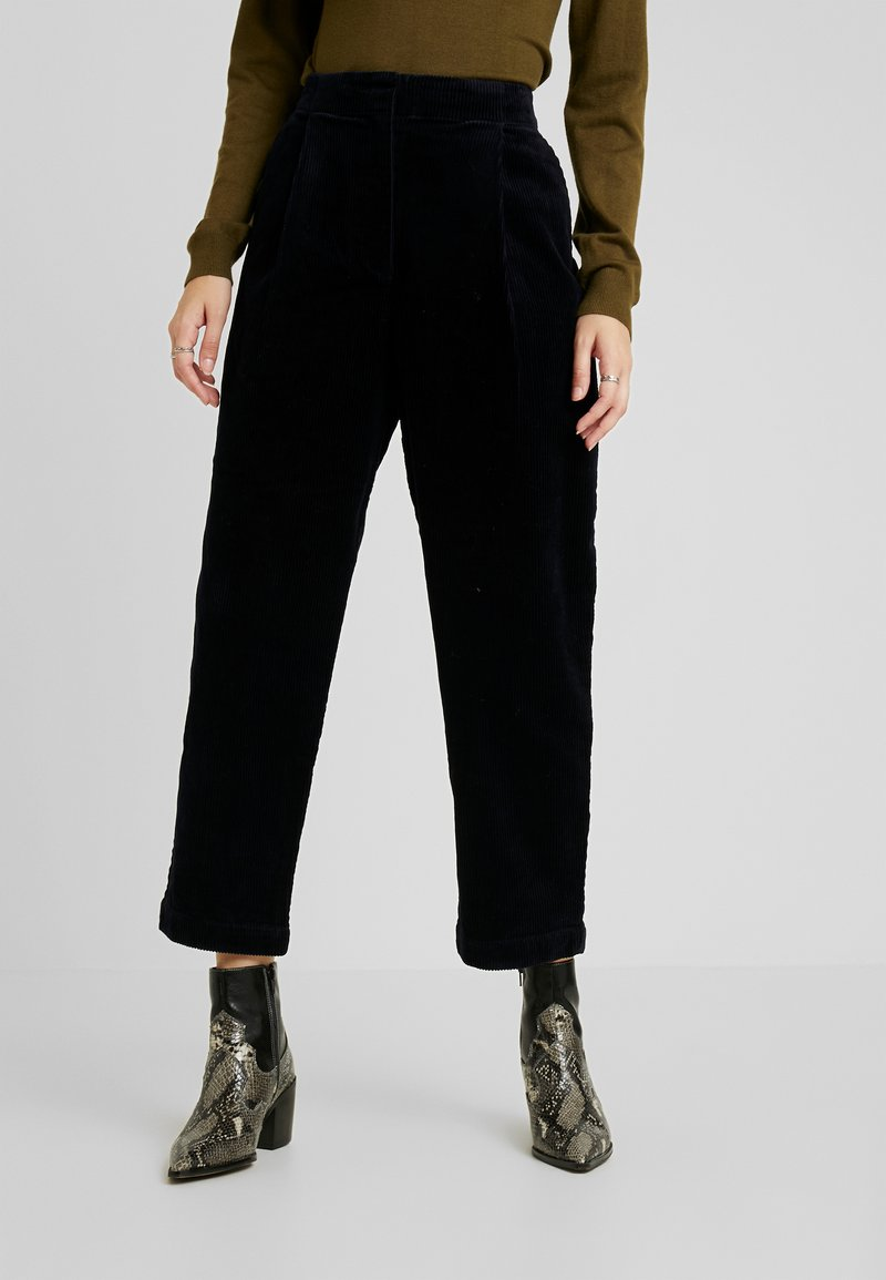 Monki - MONICA TROUSERS - Pantaloni - blue dark