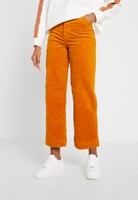 Monki - NILLA TROUSERS - Pantalones - mustard - 0