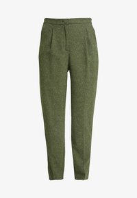 Monki - TARJA TROUSERS - Chinot - green medium dusty/salt - 4
