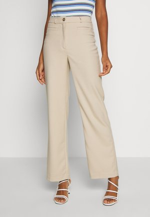 STACY TROUSERS - Tygbyxor - beige