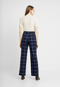 Monki - STACY TROUSERS - Trousers - blue dark geek - 3