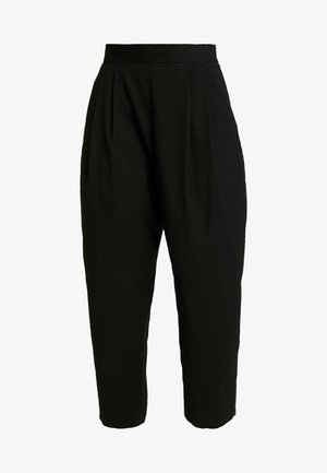 TERRY - Trousers - black dark