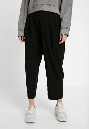 TERRY - Pantaloni - black dark