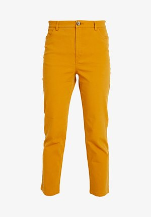 YOSSAN URGENT - Trousers - yellow dark