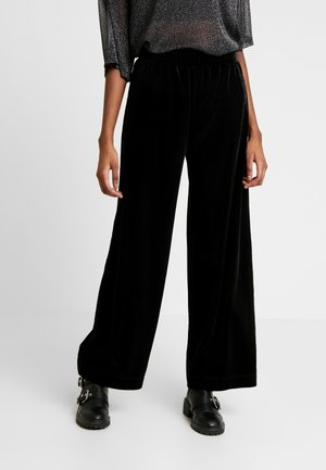 CLEO PARTY TROUSERS - Tygbyxor - black