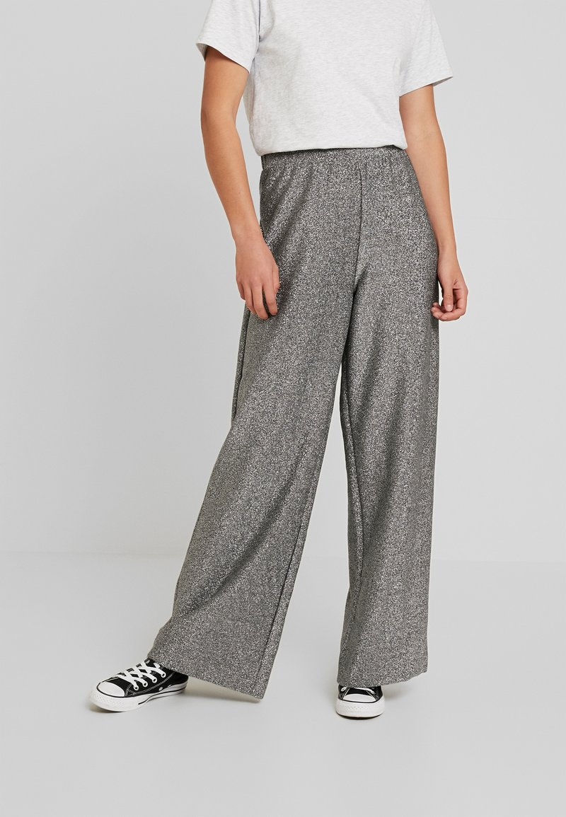 Monki - DONNA PARTY TROUSERS - Kalhoty - silver
