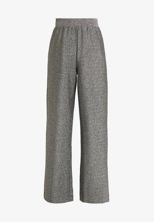 DONNA PARTY TROUSERS - Spodnie materiałowe - silver
