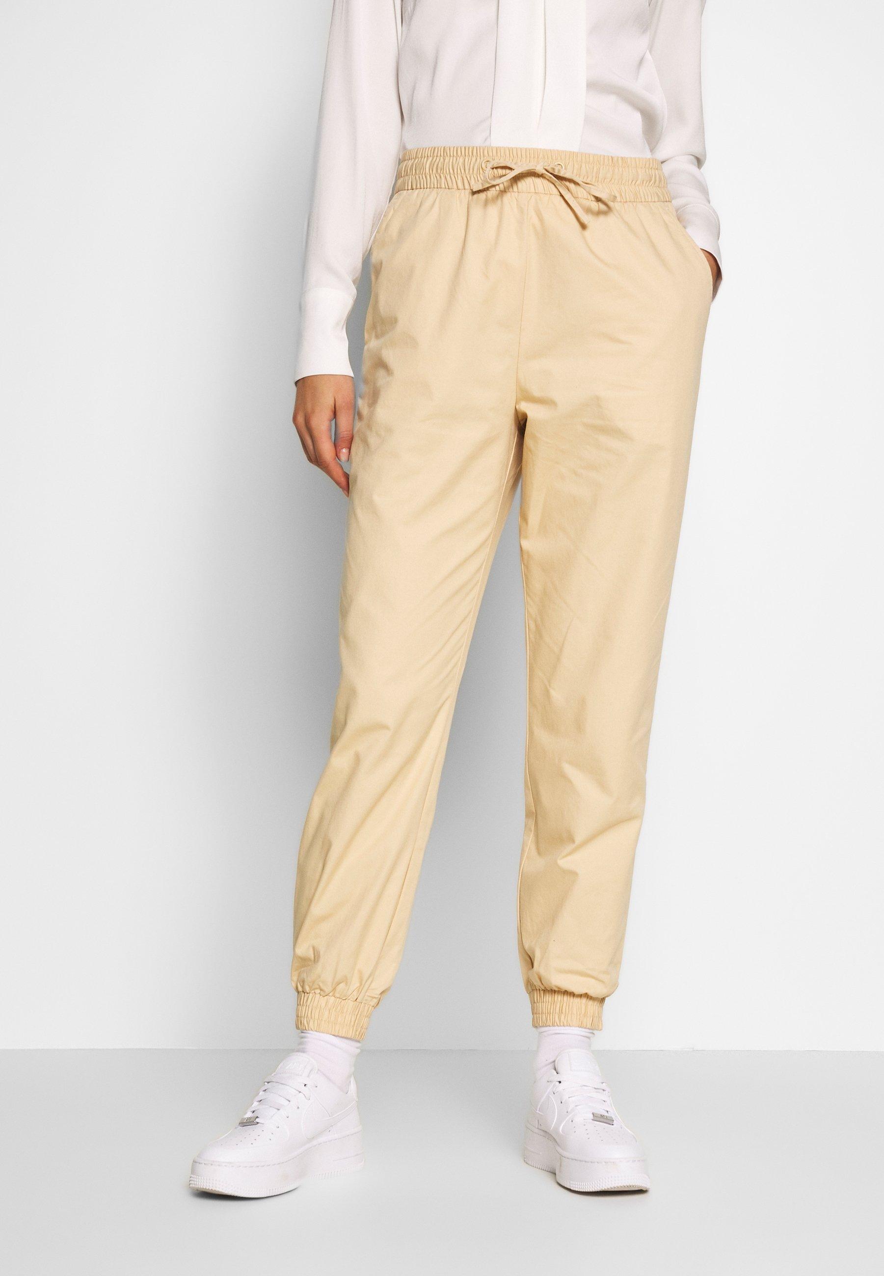 Monki PAM TROUSERS - Spodnie materiałowe - beige
